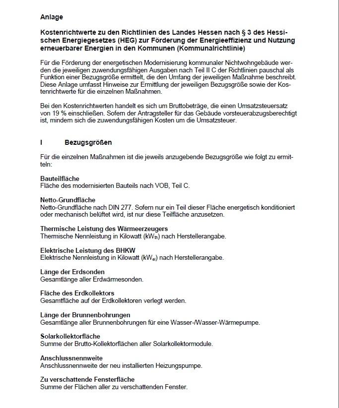 Kommunalrichtlinie - Beiblatt Modernisierung
