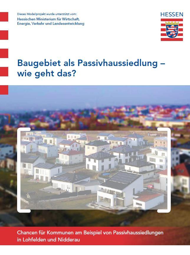 Broschüre Baugebiet als Passivhaussiedlung
