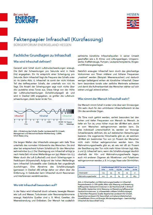 PDF: Kurzfassung Faktenpapier Infraschall