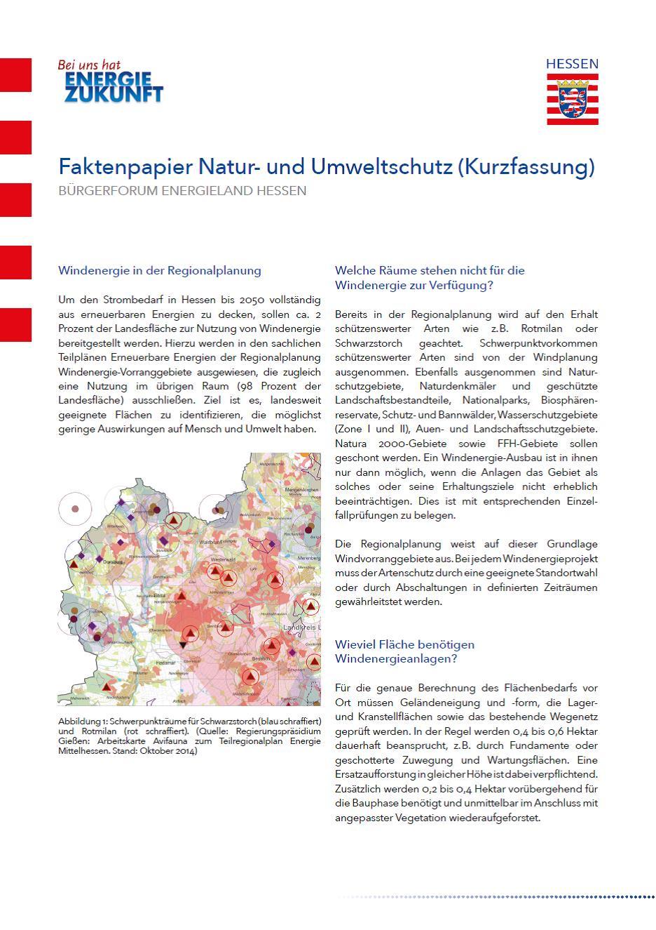 Kurzfassung Faktenpapier Natur- und Umweltschutz