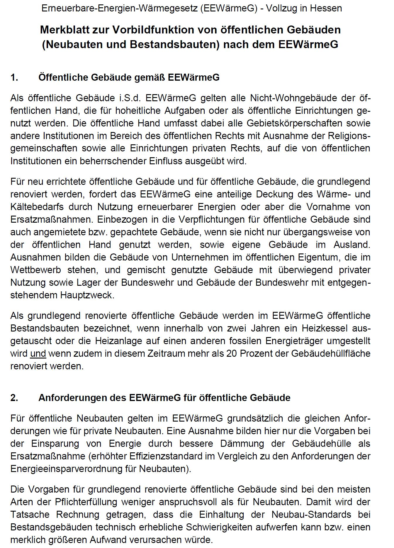 PDF: Empfohlener Vordruck zum EEWärmeG