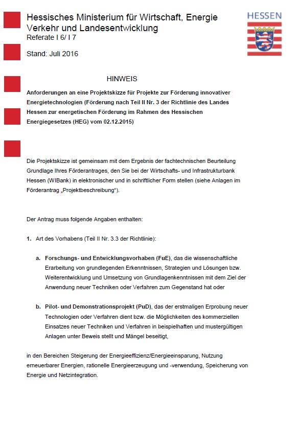 PDF: Hinweis Projektskizze innovative Technologien