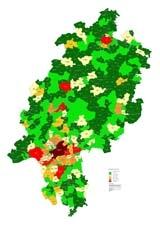 Waermesenkenkarte Hessen